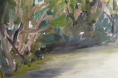 Side of the Road,  en plein air